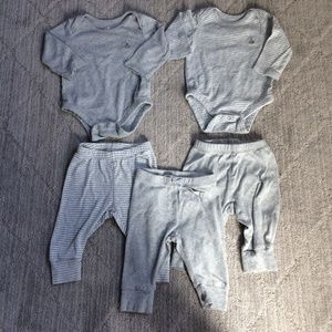GAP Baby Bodysuits Pants Gray Cotton Boy Girl Lot